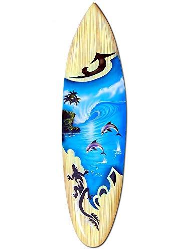 Seestern Sportswear Deko Holz Surfboard 80 cm lang Airbrush Design Surfing Surfen Wellenreiten Surf /1668