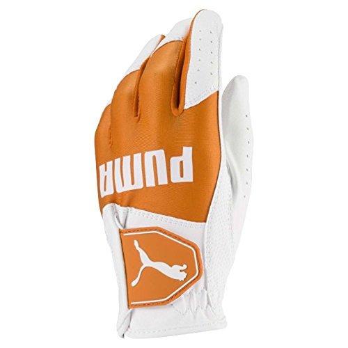 Puma Golf 2018 Kid's Golf Glove (Bright White-Vibrant Orange, Medium)