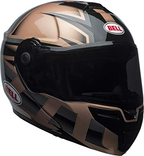 Bell SRT Modular Street Motorcycle Helmet(Predator Gloss Copper/Black, Large)