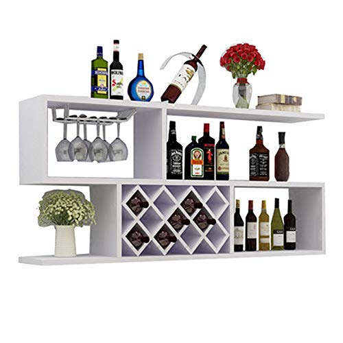 CWCW Estante de Vino de Pared Moderno Minimalista hogar Sala de Estar celosía decoración Estante gabinete de Vino