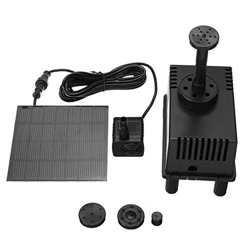 TuToy 180L/Solar Water Panel Power Fountain Pump Kit Pool Garten Teichwasser Dünnbar Pumpe