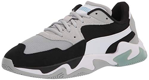 PUMA unisex adult Storm Sneaker, Puma Black-high Rise-puma White, 13.5 Women 12 Men US