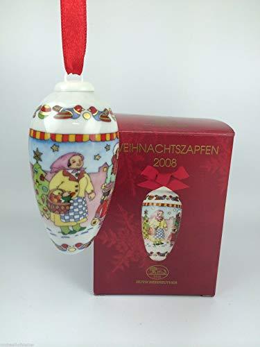 Hutschenreuther Porzellan Weihnachtszapfen Zapfen 2008 in der Originalverpackung NEU 1.Wahl