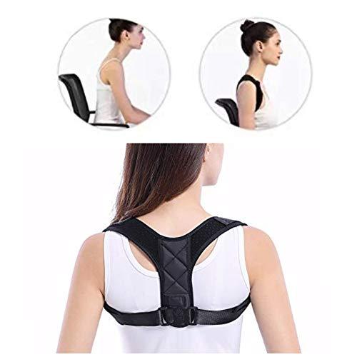 REDBAX Corrector de postura, soporte de espalda, tamaño ajustable para hombres y mujeres, soporte recto