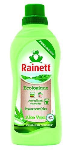 RAINETT Assouplissant écologique Aloe Vera peaux sensibles Ecoloabel 750 ml - Lot de 2