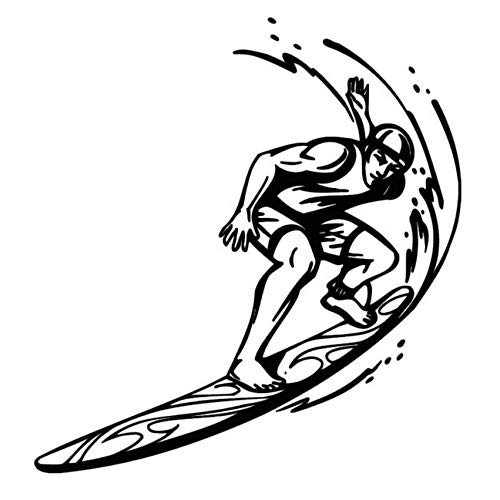 Yssyss Cheapest Custom Color Surfer Riding Wave Sports Mural Living Room Art Vinyl Wall Decal Sticker 59 * 59 Cm