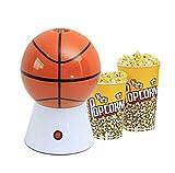 SMSOM Máquina de Palomitas de maíz Infantil, Mini Electricidad Pequeña maquinaria de Palomitas de Palomitas de maíz Party Party Baloncesto/Fútbol/Modelo de Voleibol Maker, Hace 14 Tazas de palomit