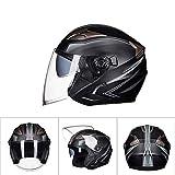 SMINNG Motorcycle 3/4 Half Face Helmet Retro Harley Motorbike Jet Helmet DOT Certified Open Face Cruiser...