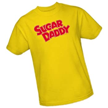 Sugar Daddy Candy Logo Adult T-Shirt XXX-Large Yellow