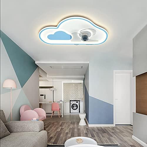 LED Ventilador Techo Con Luz Y Mando A Distancia Infantil Ventilador Techo Con Luz Y Mando A Distancia Silencioso Ventilador Techo Con Luz Silencioso Pequeño 50CM*15CM,Azul