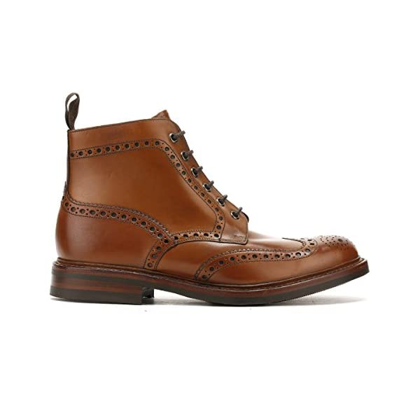Loake Mens Burnished Calf Bedale Leather Brown Boots 7.5 US