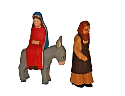 Stoff'l - FEINES FÜR KINDER Lotte Sievers-Hahn Krippenfiguren * Lotte Sievers-Hahn Krippenfiguren * Set Maria mit Esel und Josef laufend