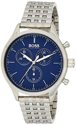 Hugo Boss Herren Chronograph Quarz Uhr mit Edelstahl Armband 1513653