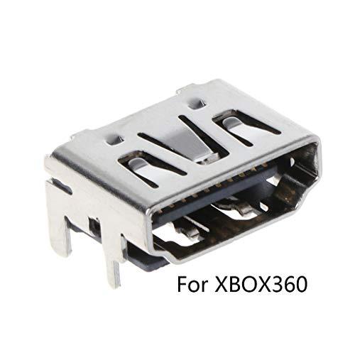 JOYKK 1 Stuk Vervangende Kits Poort Connector Socket Plug voor 360 Console Accessoires - Zilver