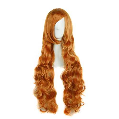 obtener pelucas naranjas largas on-line