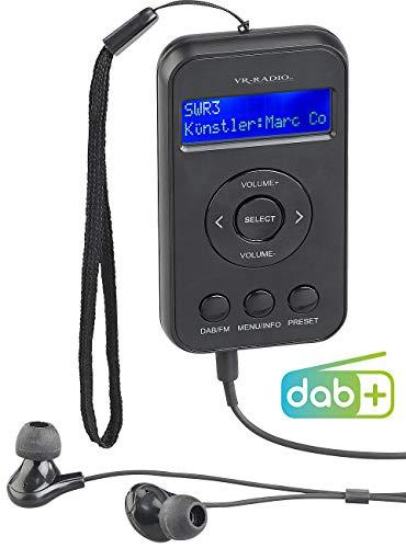 VR-Radio Kopfhörer mit Radio DAB+: Digitales Taschenradio mit DAB+/FM, Akku, LCD-Display, DRC & Ohrhörern (Pocketradio)