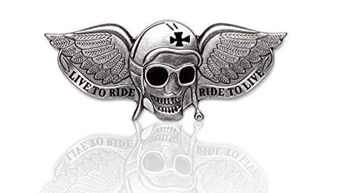 Daywalker Bikestuff Bikerpin Skull Live to Ride Ride to live eiserne Kreuz Aviator Skull DW1926