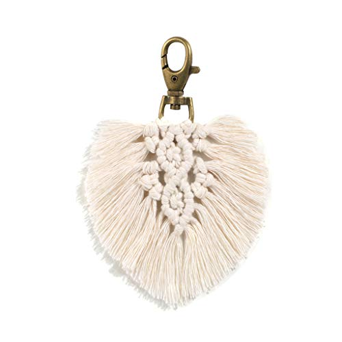 Yushu Llavero para mujer, llavero de coche, con borlas, bolsa de abalorios, adornos, llavero, pendiente, amuletos, accesorios para manualidades, para hacer joyas de llavero
