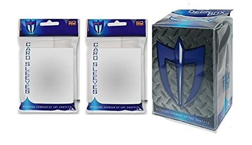 100 CLEAR Shuffle-Tech GLOSS Finish Sleeves + Deck Box (fits Magic , Force of Will, Pokemon Cards) ih144163061