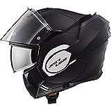 LS2, casco de moto modular VALIANT negro mate, XXL