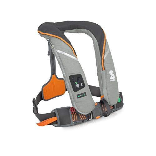 Secumar Survival 220 - Chaleco salvavidas automático, color gris claro, gris y naranja