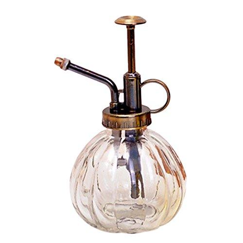 iVansa Glas Sprühflasche, Vintage Style Blumensprüher Wassersprühflasche Pump Drucksprüher für Parfüm/Garten/Pflanzen/Haushalt