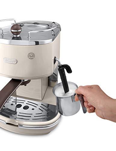 De'Longhi Vintage Icona Traditional Barista Pump Espresso Machine, Coffee and Cappuccino Maker, ECOV311BG, Cream