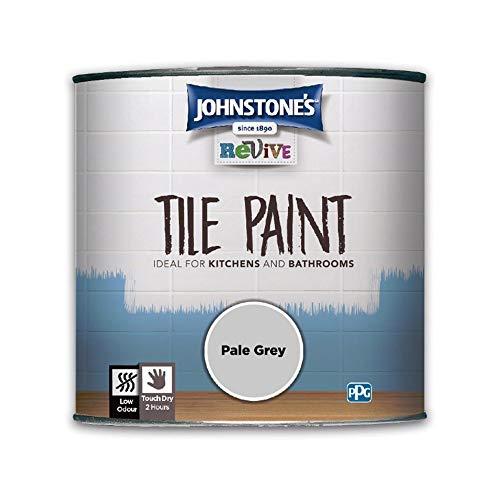 Johnstones Revive Tile Paint 750ml Pale Grey - Ceramic Gloss Finish