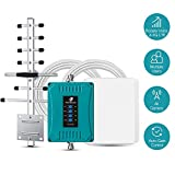 5-Band Cell Phone Signal Booster for All Carriers 3G 4G LTE Home Use - 700/850/1700/1900MHz Cellular Repeater...