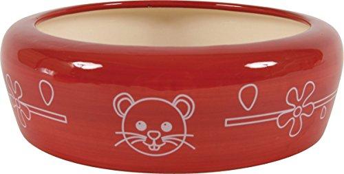 écuelle cerámica pequeño modelo para roedores cereza 150ml diámetro 10cm.