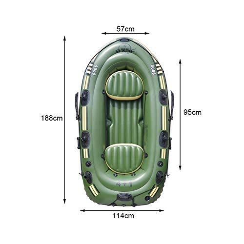 househome Schlauchboot aufblasbares Boot Ruderboot Gummiboot, Tragbare 2/3 Personen PVC Doppelt Paddelboot, Schlauchboot mit 2 Rudern Und Fußpumpe, Paddelboot für Treibende Wassersportarten