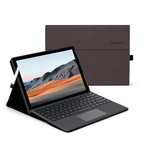 Omnpak Funda y fundas para Microsoft Surface Pro 7+, Surface Pro 7, Surface Pro 6, Surface Pro 5, Surface Pro 4 de 12,3 pulgadas, compatible con teclado tipo cubierta