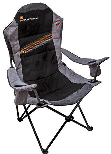 Zebco Pro Staff Stuhl DX, grau/schwarz, 48 cm