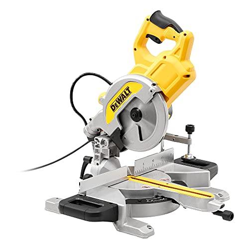 Dewalt DEWDWS777 DWS777 216mm XPS Crosscut Mitre Saw 1600 Watt 240 Volt, 240 V, Black/Yellow