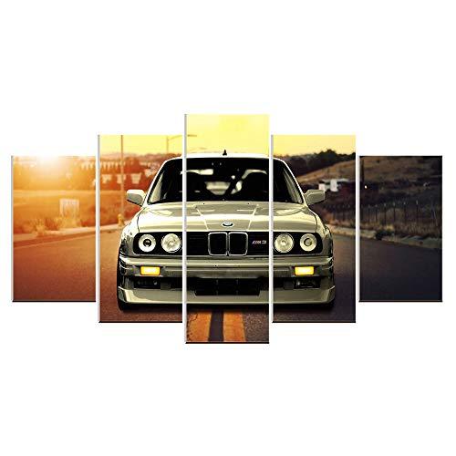 Karen Max Wandbild auf Leinwand, Ölgemälde, 5 Teile, BMW M3, Sportwagen, Landschaft, für Wohnzimmer, Heimdekoration, Poster Kunstwerk, Heimgeschenke Size 2:12x16inchx2,12x24inchx2,12x32inchx1NoFrame