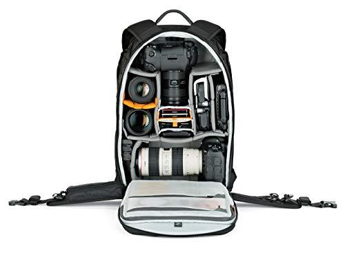 Lowepro LP37177-PWW Protactic Rucksack 450 AW II (mit Allwetterüberzug für Laptops/Tablets bis zu 15 Zoll, geeignet für Canon/Sony Alpha/Nikon, DSLR/CSC/Videokameras), schwarz
