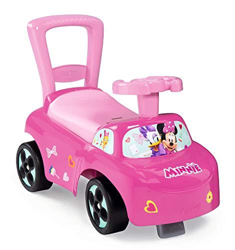 Smoby 720522 Minnie Auto Rutscherfahrzeug, Rosa