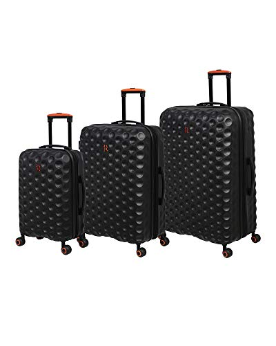 it luggage Bubble-Spin 4 Wheel HardSide, Black, 3 Piece Set