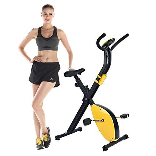 N/Q Plegable Bicicleta estática magnética - Cubierta Equipo de la Aptitud - Fold Pantallas LCD Ligeros, Inmóvil Vertical Gimnasio Ciclo y Plegable Trainer para el hogar y Entrenamiento Cardio