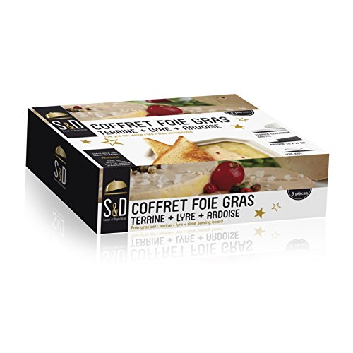 Saveur & Dégustation Foie GRAS Set, TERRINE + Lyre + Slate