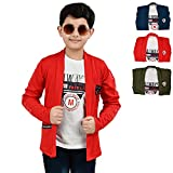 Softy Jeans Fashion Importerd Hosiery Fabric Full Sleeves Boy Shrug/Jacket with Inner, Blue, 8 to 9 Years