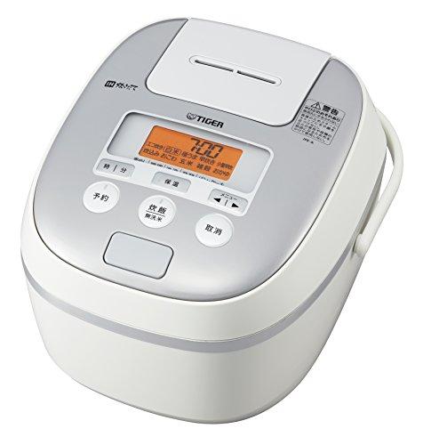 タイガー 炊飯器 5.5合 IH 土鍋コーティング 時短早炊き機能 ホワイト 炊きたて JPE-A100-W