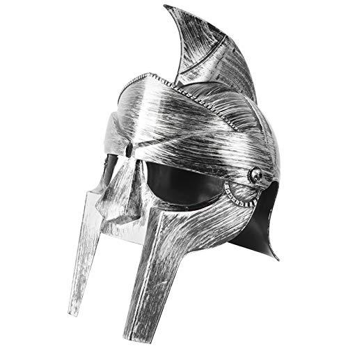 VALICLUD Casco Espartano de Caballero de Hierro Medieval Bronce Guerrero Romano Griego Usable Tamao Libre para Disfraces de Adultos