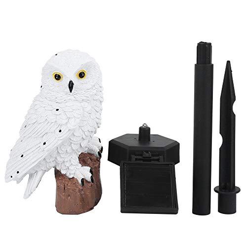 Niady Owl Shape Waterproof Solar LED Lawn Lamp Garden Lights for Outdoor Yard Landscape Decor(White)