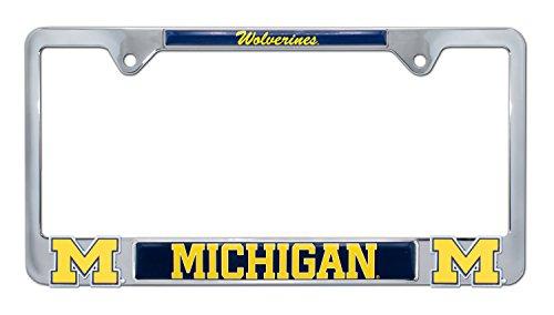 University of Michigan License Plate Frame Variation (3D Wolverines)