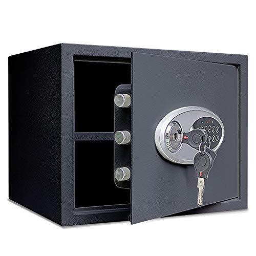 YXX- Safe Tresor Möbeltresor Elektronischer digitaler Safe, Stahl, Tastatur, Code, Doppelschlüssel-Schloss - Schützen Sie für Geld, Schmuck, Pässe, Zuhause oder Geschäft