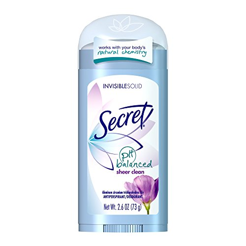 Secret Original Strength Antiperspirant and Deodorant Invisible Solid, Sheer Clean, 2.6 Oz (Deodorants)