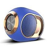 Tragbarer drahtloser Bluetooth-Lautsprecher, wasserdichte Stereoanlage im Freien-Blu