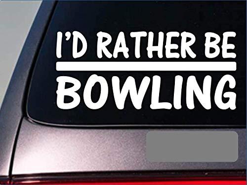 Ik zou liever een Bowling 8 Inch Sticker Decals Bowling bal handschoen Lane