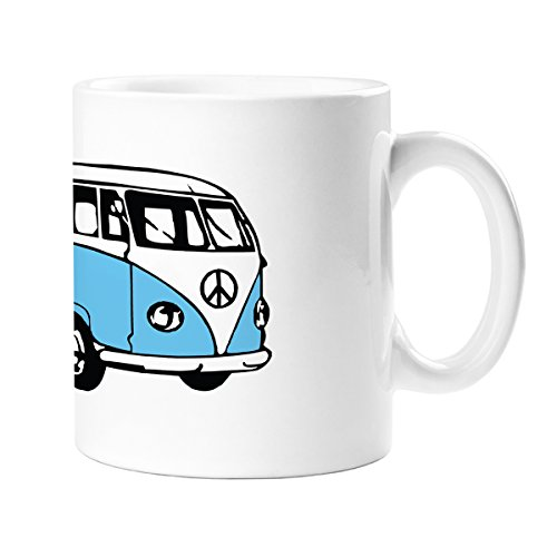 camping-car vintage Bleu Mug